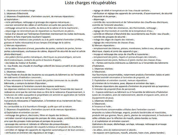liste charges screenshot